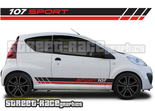 Peugeot 107 racing stripes