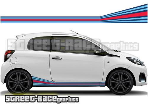 Peugeot Martini graphics