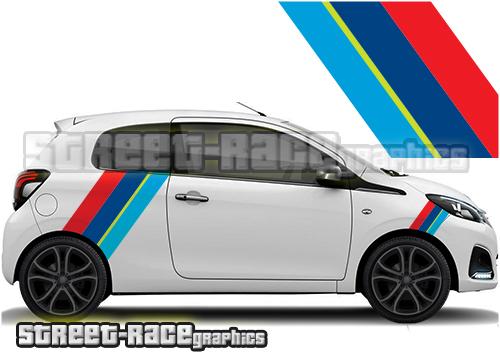 Peugeot 107 & 108 printed racing stripes