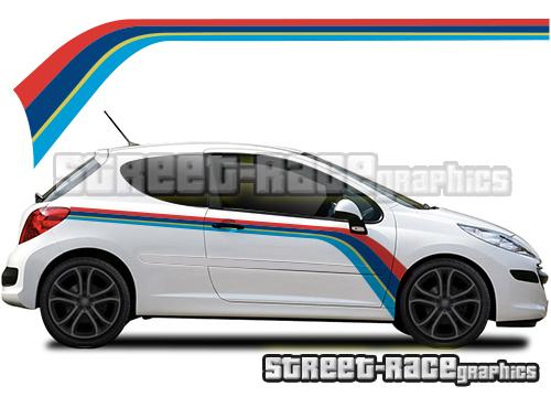 Peugeot 207 & 208 printed racing stripes