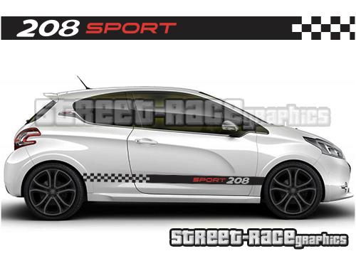 Peugeot 208 racing stripes