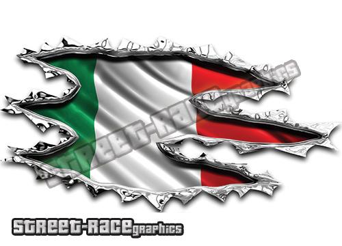 Italian Flag car graphics