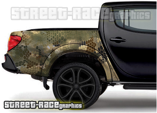 Side bed / tub camouflage wraps