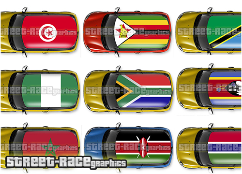 African countries roof wraps