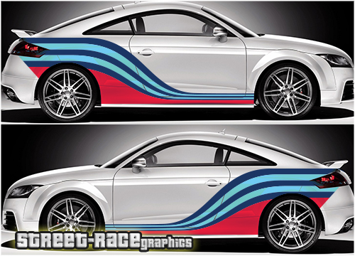 Audi TT Martini racing stripes