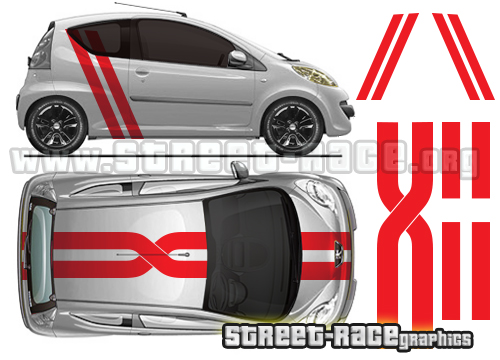Toyota Aygo roof & full graphics
