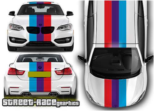 BMW 'over the top' OTT racing stripes