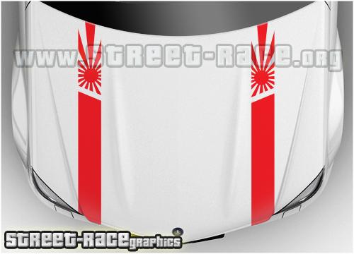 Nissan bonnet stripes
