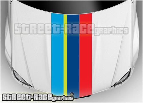 Peugeot bonnet racing stripes