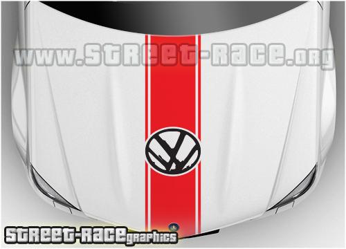 VW bonnet racing stripes