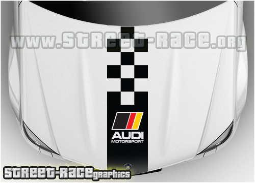 Audi bonnet racing stripes