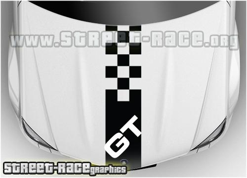 Alfa Romeo bonnet stripes