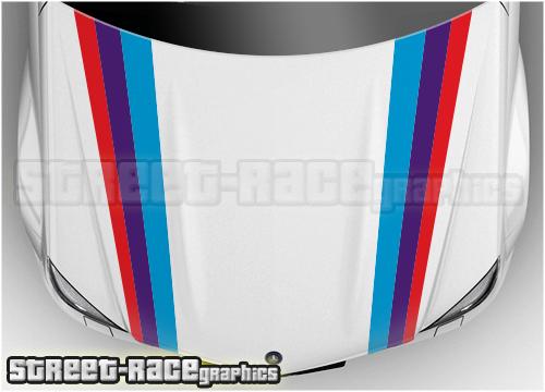 BMW bonnet racing stripes