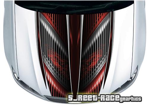 Bonnet part wraps - Racing abstract