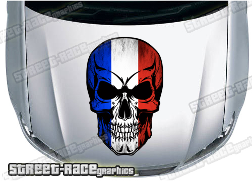 French Flag car graphics
