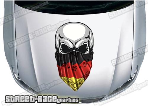 German Flag car stickers
