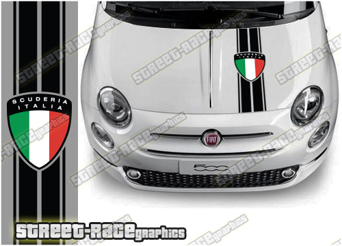 Fiat bonnet stripes