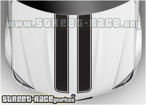 Vauxhall Opel bonnet stripes