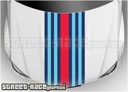 Martini Universal bonnet racing stripes