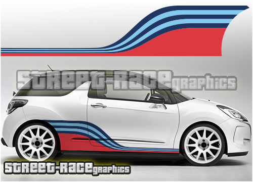 Citroen Martini racing stripes