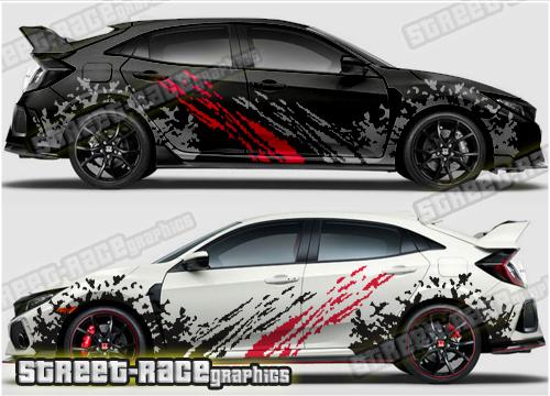 Honda Civic Rally & Racing graphics