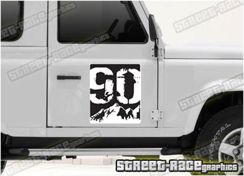 Land Rover printed door stickers