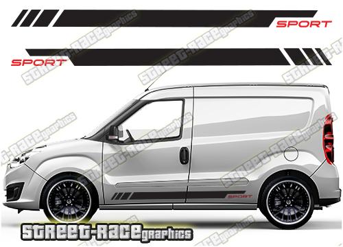 Fiat Doblo side racing stripes