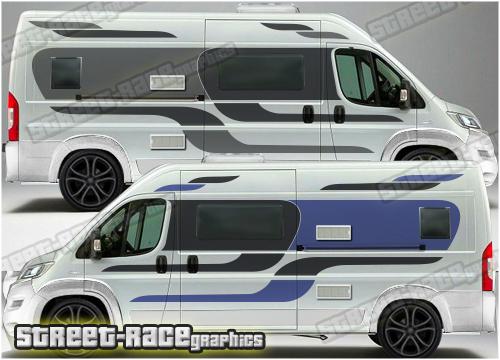 Peugeot Boxer Campervan side graphics