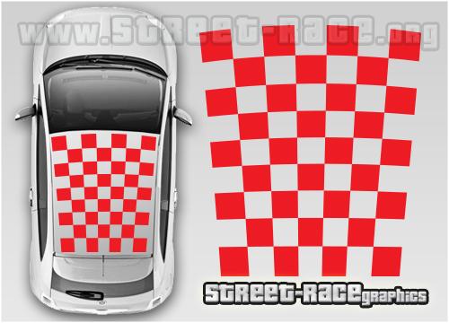 Fiat 500 roof graphics (cut vinyls)