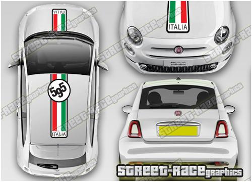 Fiat 500 OTT racing stripes