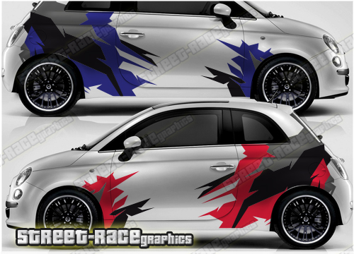 Fiat 500 large racing & rally style graphics