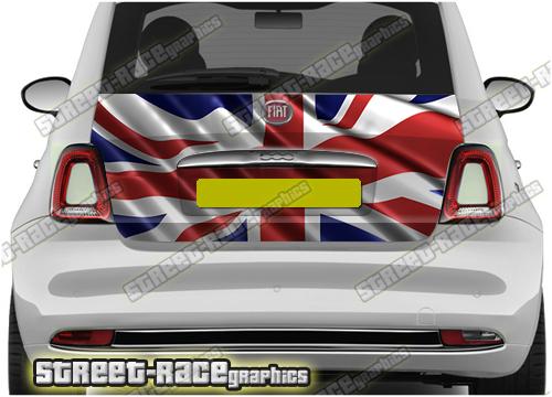 Fiat 500 rear tailgate wraps