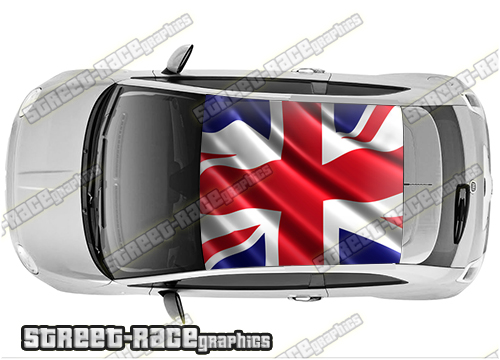 Fiat 500 printed roof wraps