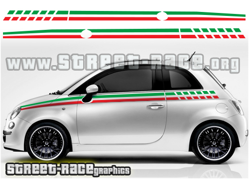 Fiat 500 side stickers