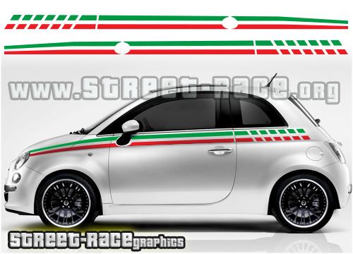 Fiat 500 side graphics