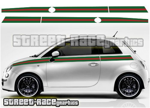 Fiat 500 printed side graphics