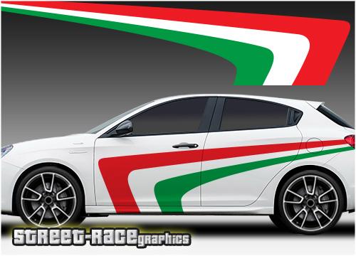 Stickers Kit Stickers Alfa Romeo Giulietta Print Giulietta Bands Side