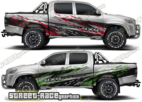 Toyota Hilux large decals