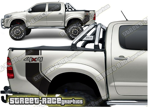 Toyota Hilux bed/tub stickers