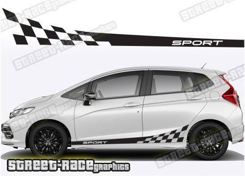 Honda Jazz side racing stripes