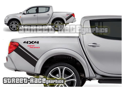 Mitsubishi L200 bed bands
