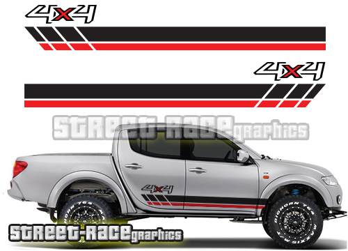 Mitsubishi L200 side stickers
