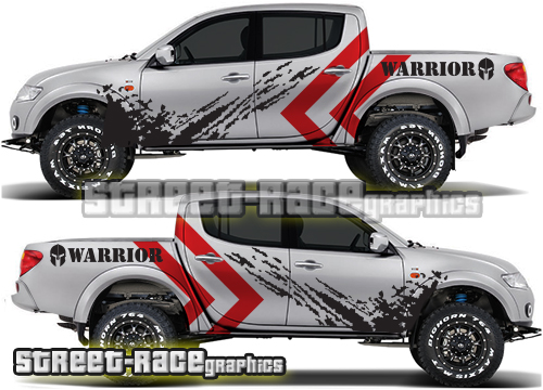 Mitsubishi L200 large side graphics