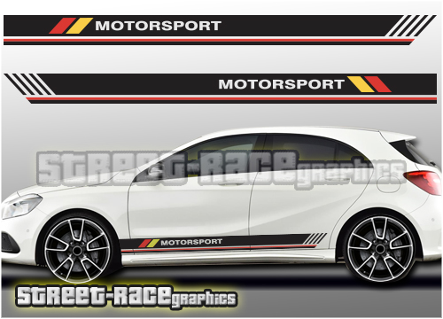 Mercedes A & B Class racing stripes