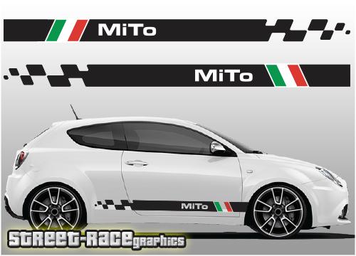 Alfa Romeo MiTo racing stripes