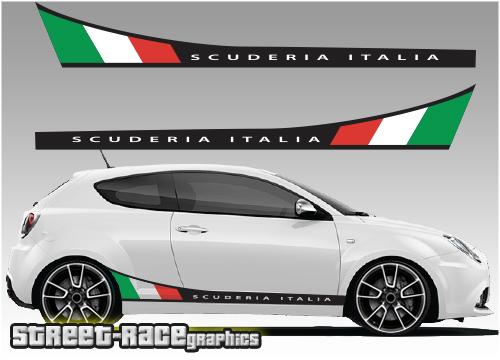 Alfa Romeo MiTo printed graphics