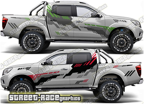 Nissan Navara/Frontier large RALLY style stickers