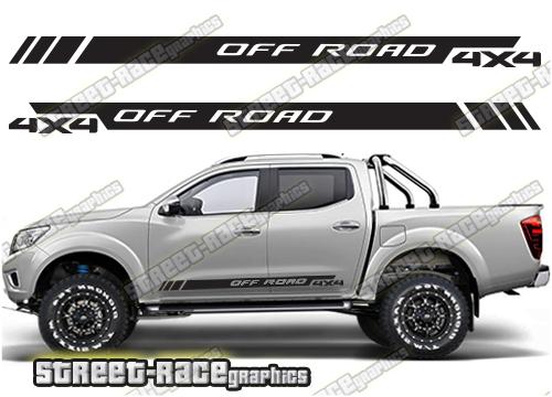 Nissan Navara/Frontier side stickers