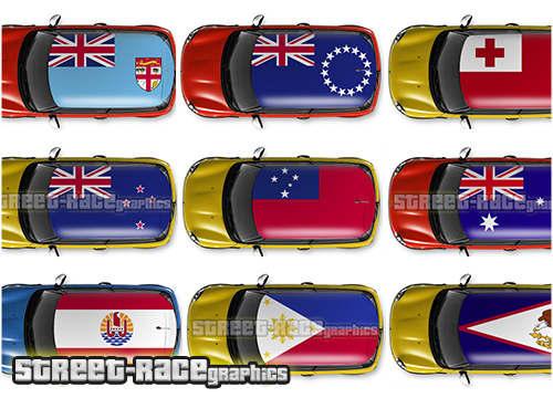 Oceania / Pacific countries roof wraps