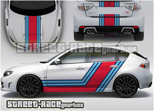 Impreza Martini Racing stripes